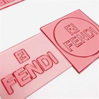 SET FENDI - TEXTURE SURFACE AND 3 BRAND STAMPS