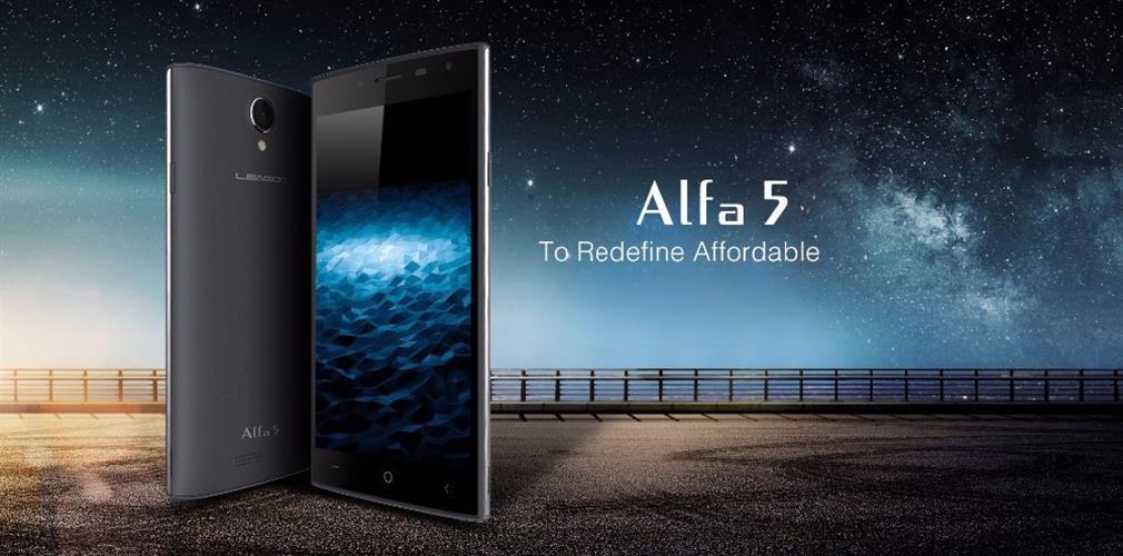 מכשיר סמארטפון LEAGOO Alfa 5 מסך 5.0 IPS מעבד 4 ליבות סים כפול