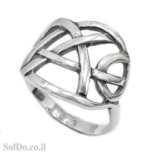 טבעת מעוצבת מכסף RG6016 | תכשיטי כסף 925 | טבעות כסף