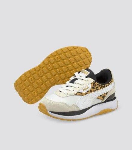 נעלי PUMA בנות בז' בשילוב מנומר (28-35)