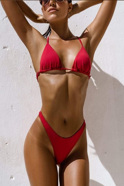 בגד ים ביקיני ברזילאי אדום - אמילי / איב