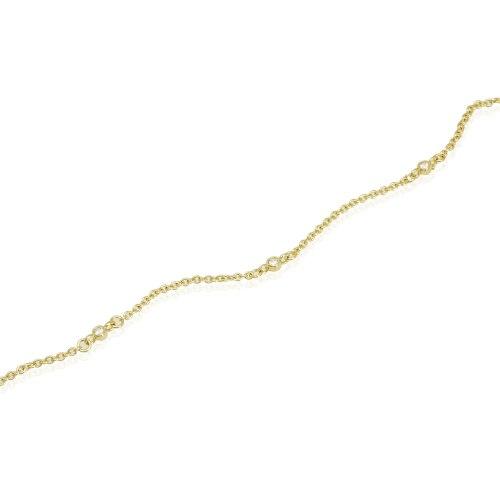 צמיד זהב משובץ זרקונים קטנים