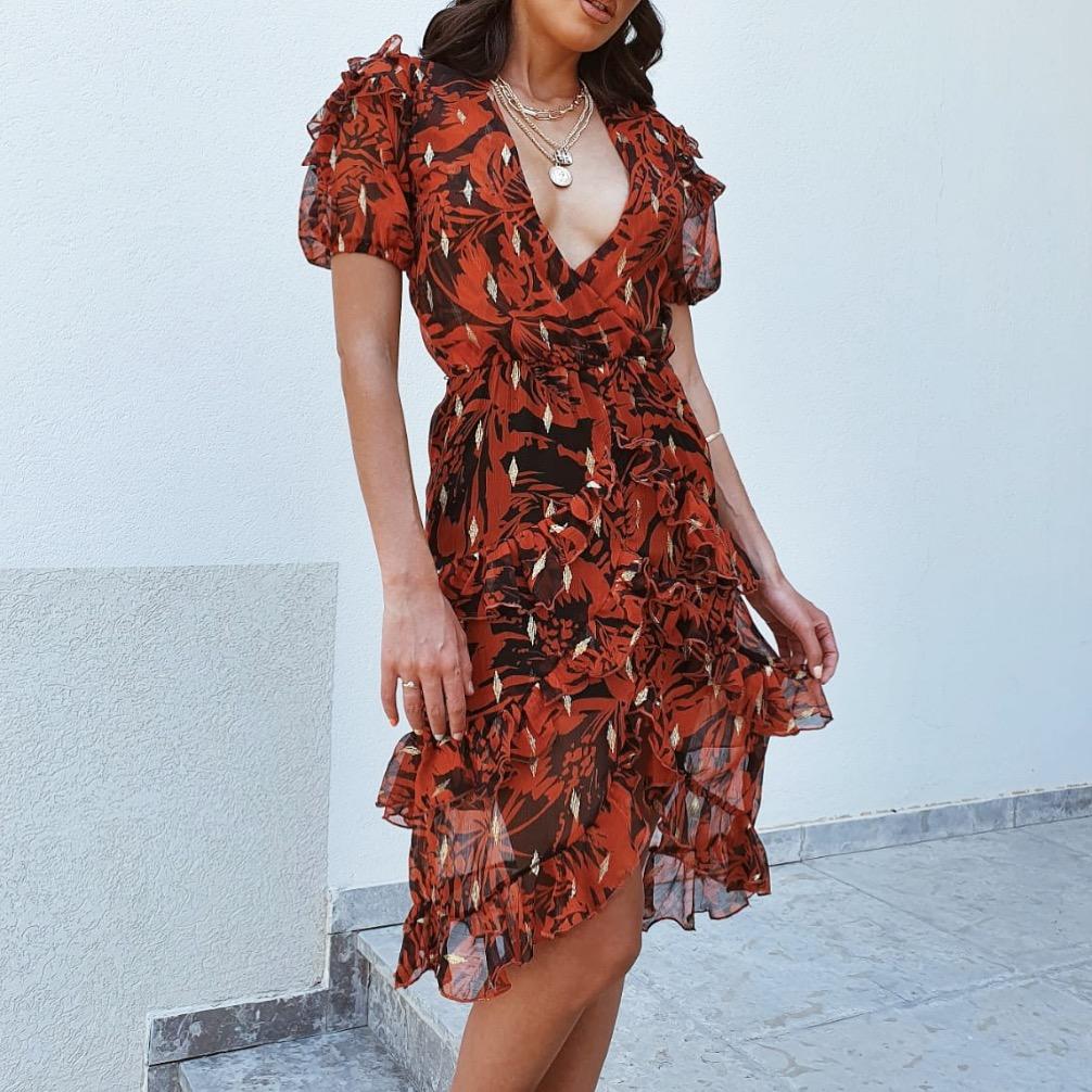 שמלת איזבלה -  אדומה