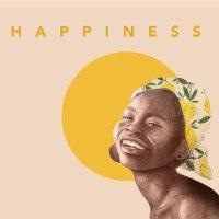 הדפס ציור נייר- HAPPINESS שלישייה שמשית