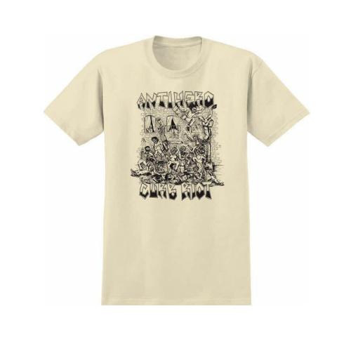 Spitfire Anti Hero T-Shirt Curb Riot Cream/Black