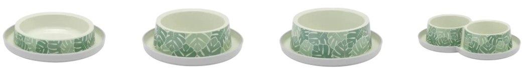 קערה מעוצבת הדפסי עלים ירוקים