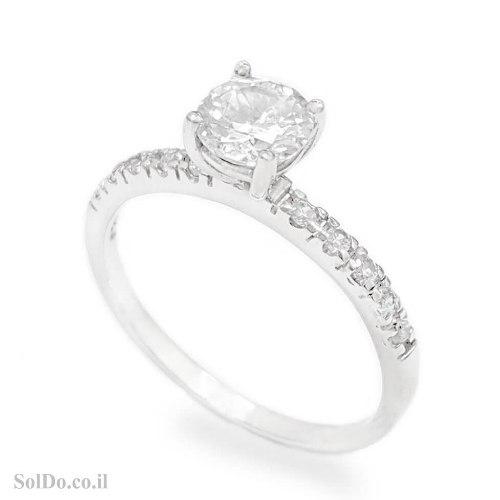 טבעת מכסף משובצת אבני זרקון  RG6200   תכשיטי כסף   טבעות כסף