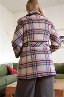 מעיל צמר משובץ בגווני רטרו מידה L/XL