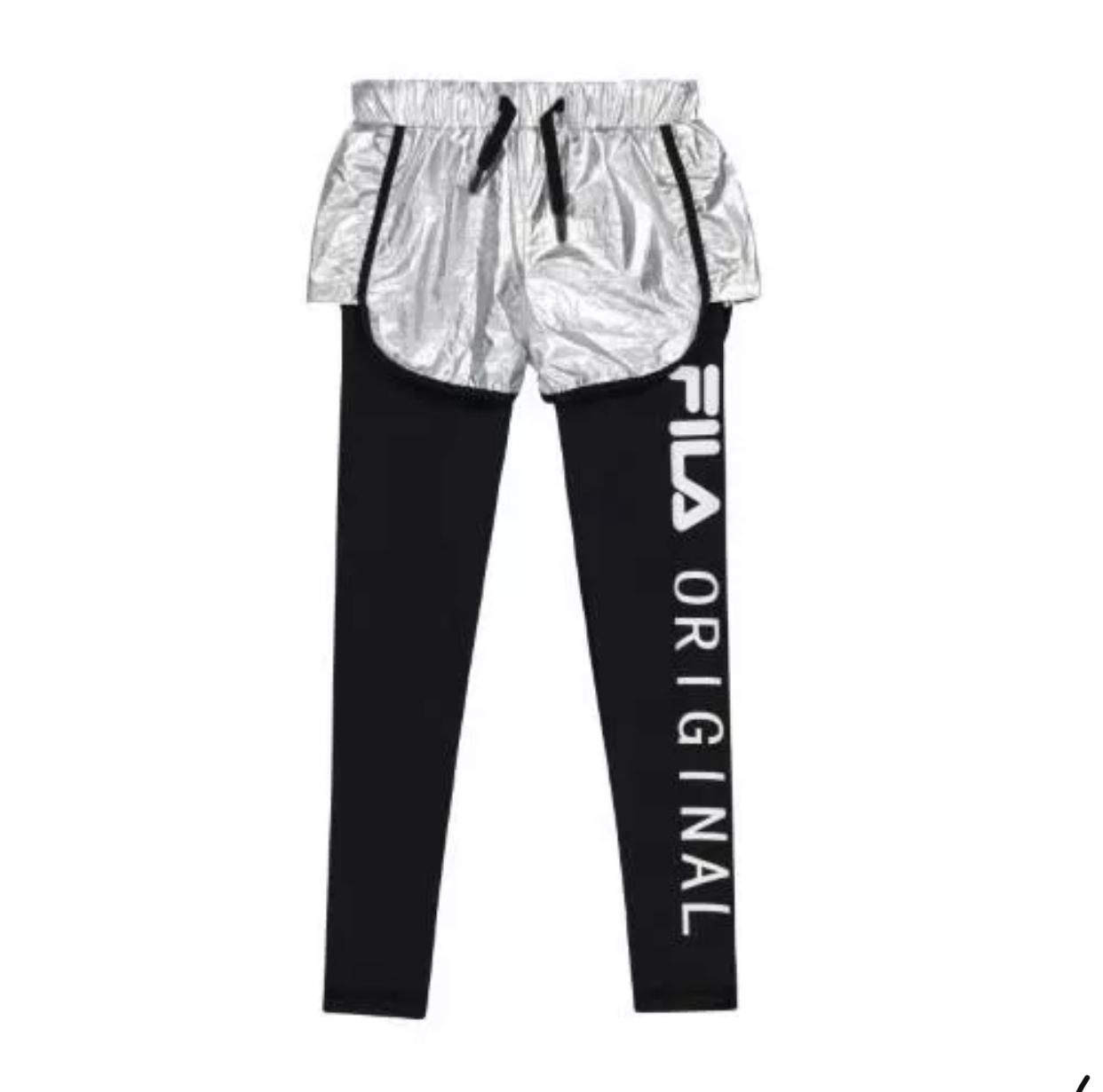מכנס כסף עם טייץ שחור FILA