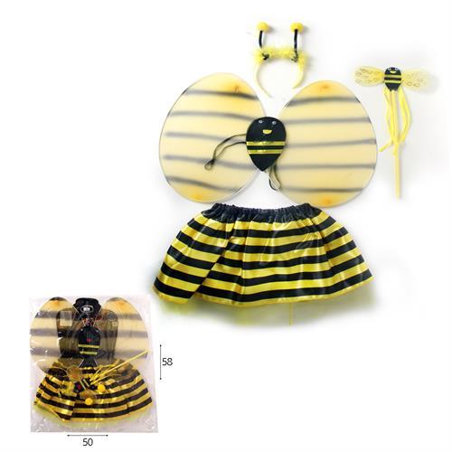 תחפושת דבורה - כנפיים חצאית שרביט וקשת