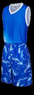 תלבושת כדורסל בעיצוב אישי Blue דגם #6011