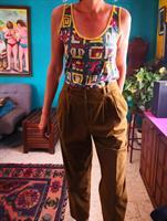 מכנס גבוה בצבע חום מידה M/L