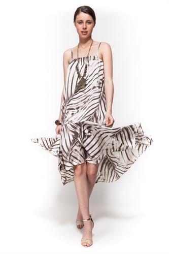 שמלת ברוק טרופי חום