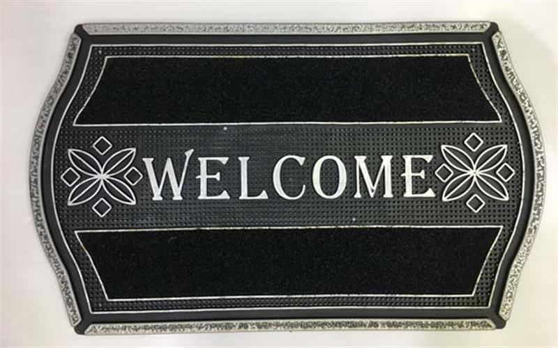 שטיח כניסה לבית welcome מעוצב-פרחים
