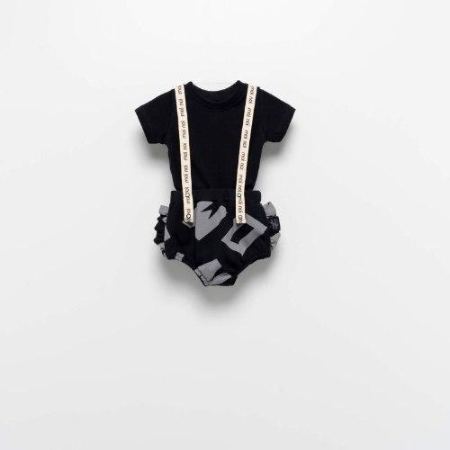בגד גוף שלייקס MOINOI שחור מודפס 3M-1Y