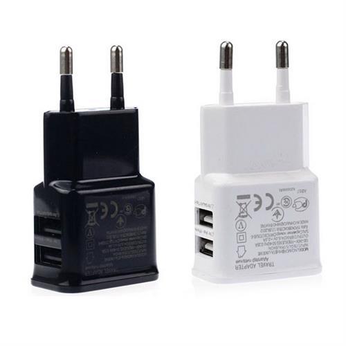 מטען קיר חשמלי מהיר USB כפול