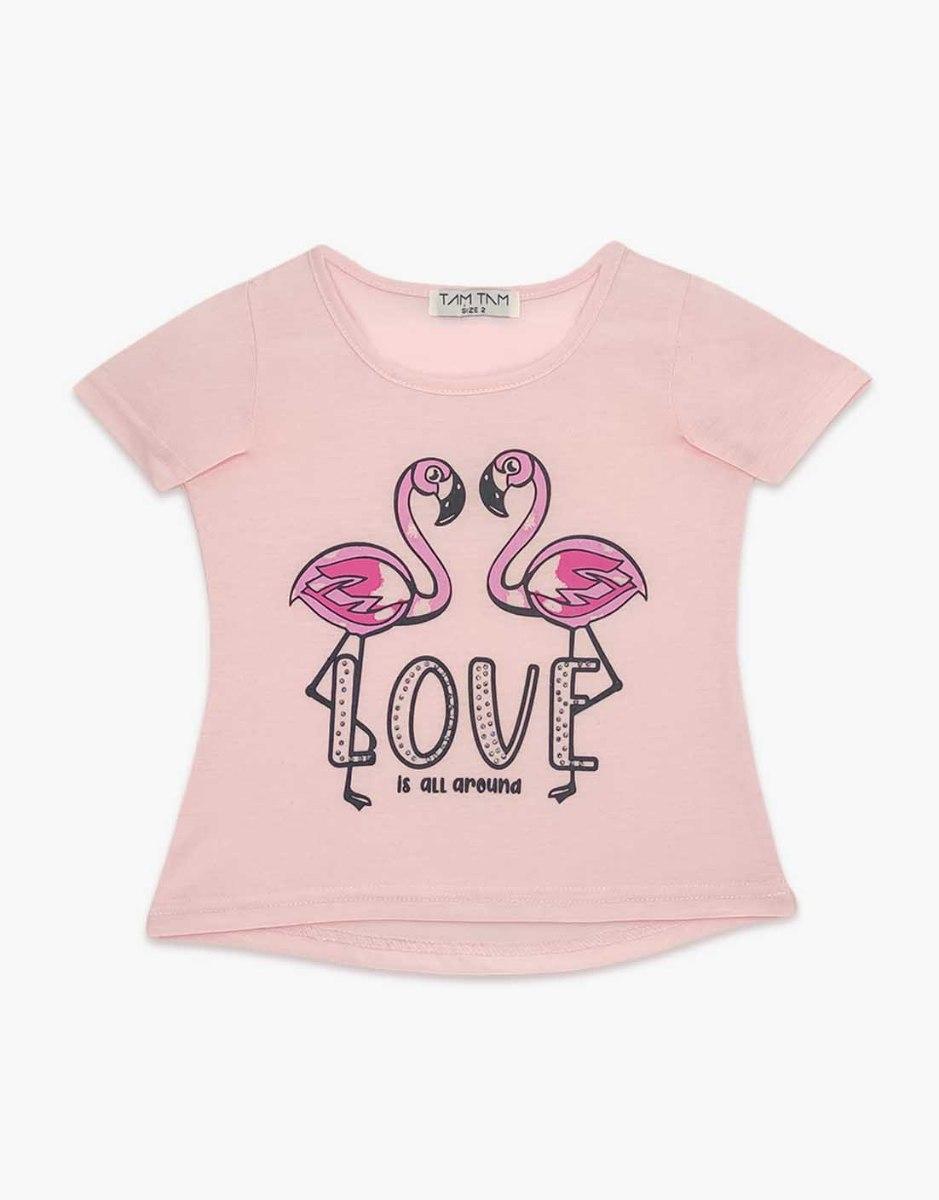 חולצה בנות טריקו מעוצבת פלמנגו