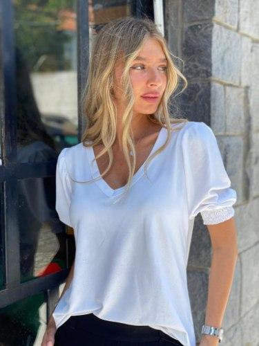 חולצת לזלי לבן THOMAS