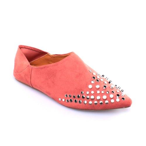 נעל ניטים בנדה - ורוד