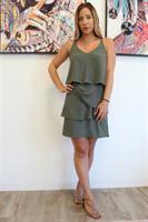 שמלת שכבות ירוקה