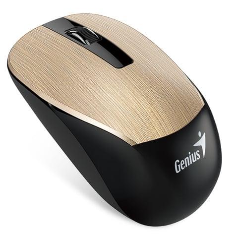 עכבר אלחוטי למחשב נייד Genius NX-7015 בצבע זהב מוברש