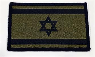 פאטץ' דגל ישראל – ירוק זית שחור ירוק למדים כובעים חולצות ותיקים