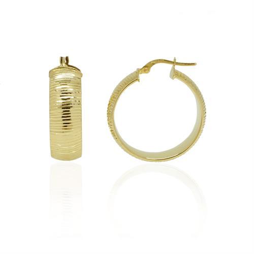 """חישוקי זהב רחבים מעוצבים עם חריטת לייזר 2.5 ס""""מ"""