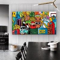 תמונה צבעונית למשרד של האמן כפיר תג'ר