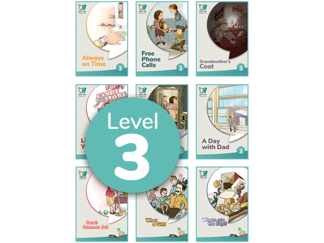 סט 9 ספרונים באנגלית | Level 3