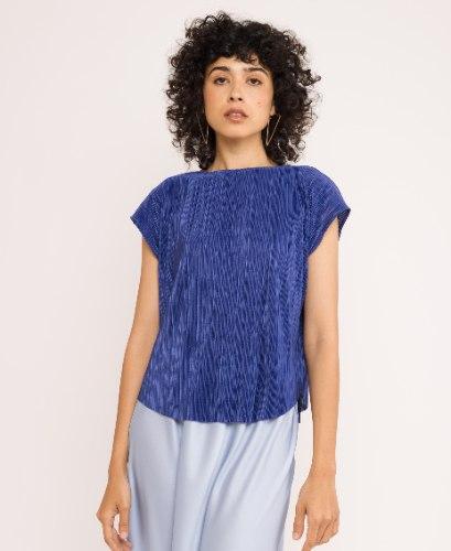 חולצת גופרה - כחול מלכותי