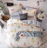 סט מלא מיטה וחצי דגם אננסים ב3 צבעים