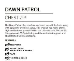 RIP CURL Dawn Patrol 3/2 Chest Zip Wetsuit