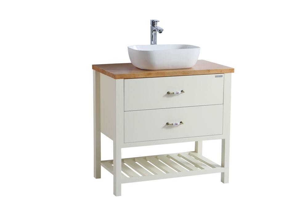 ארון אמבטיה עומד עץ מלא דגם ארום ARUM