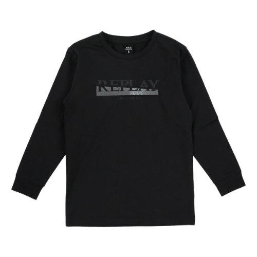 טישרט שחורה לוגו REPLAY - מידות 4-16