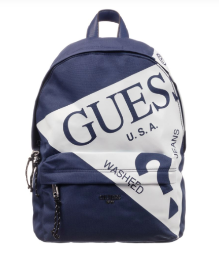 תיק גב GUESS כחול - לוגו גדול