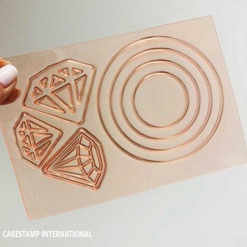 DIAMOND RING Cake Topper   Flexible Polymer Mold   Chocolate Mold