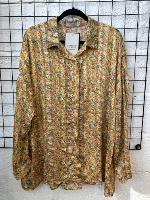 חולצת מיילי צהוב פרחים לילי