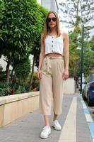 מכנס סאטן + חגורה