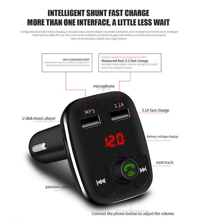 משדר fm לרכב-car kit