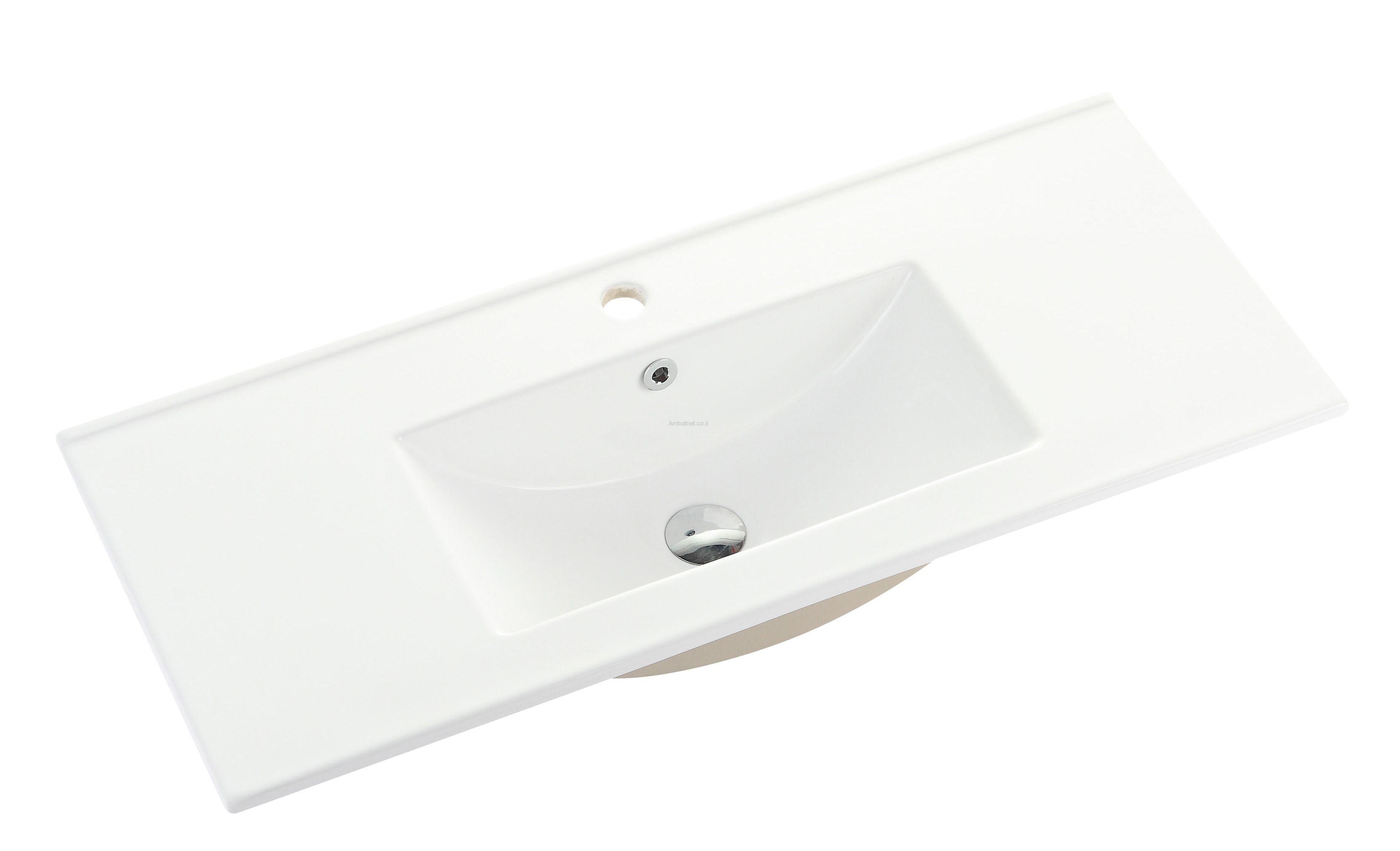 כיור אינטגרלי90-39 לבן 9090G