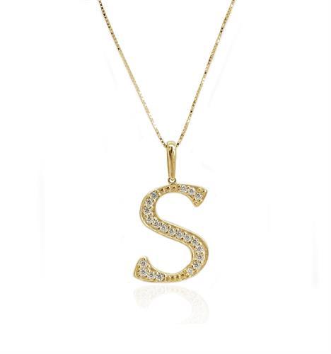 שרשרת זהב אות S|שרשרת זהב אות באנגלית