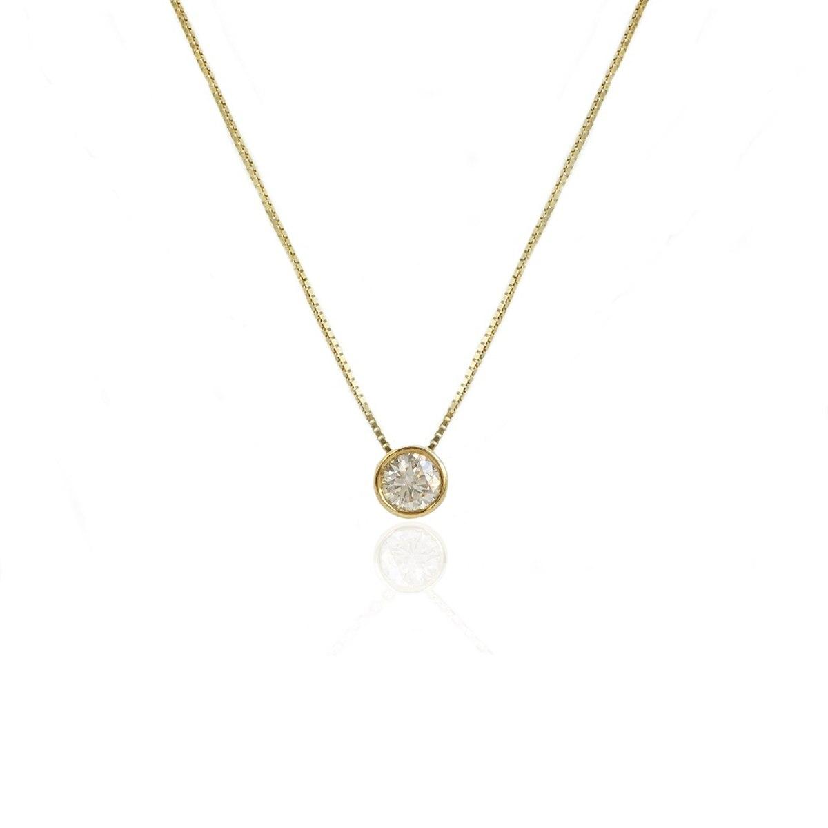שרשרת יהלום | תליון יהלום מרחף | 0.40 קראט