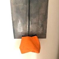 תיק צד יפני בצבע כתום מחומר דמוי עור