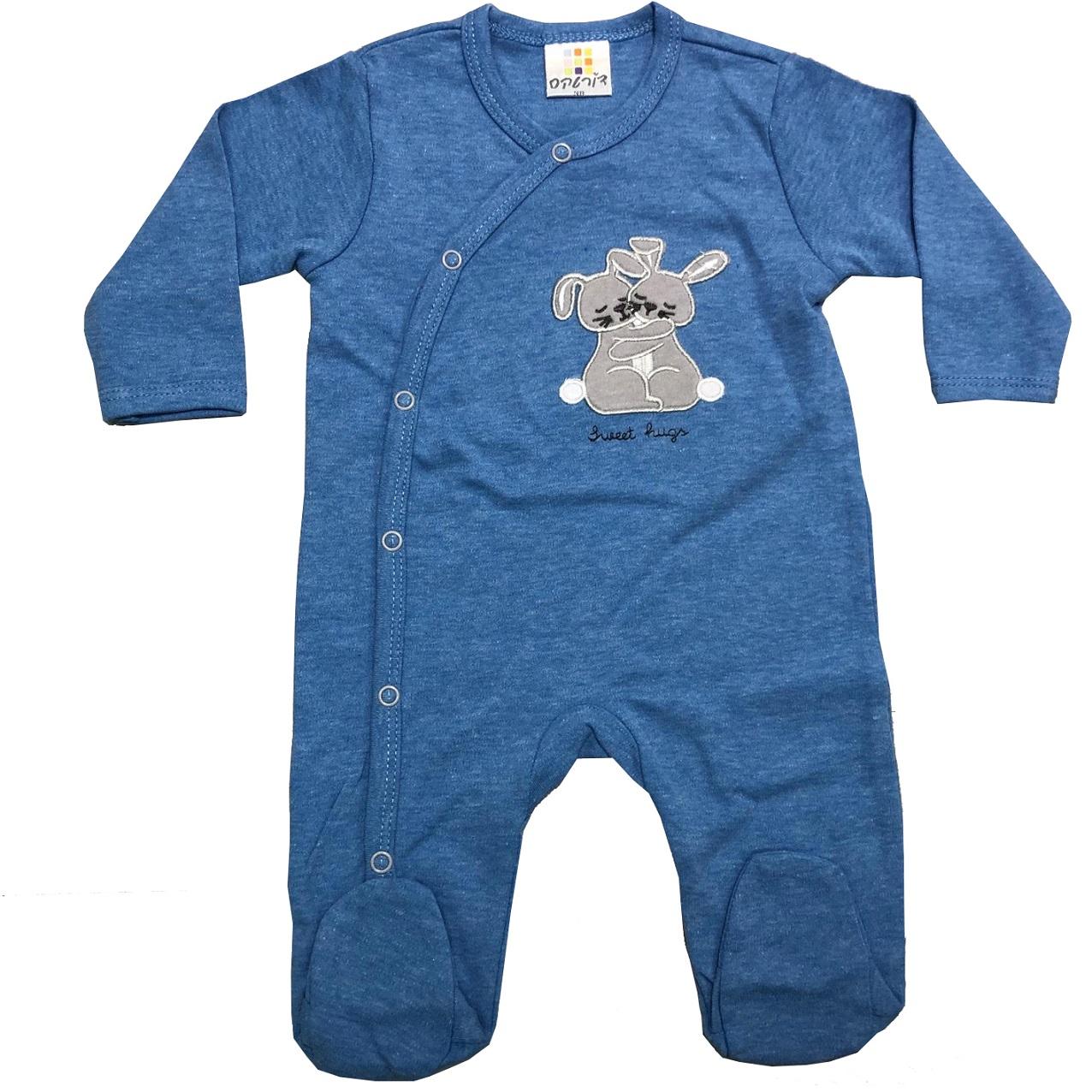 אוברול כותנה ארנבונים כחול רויאל