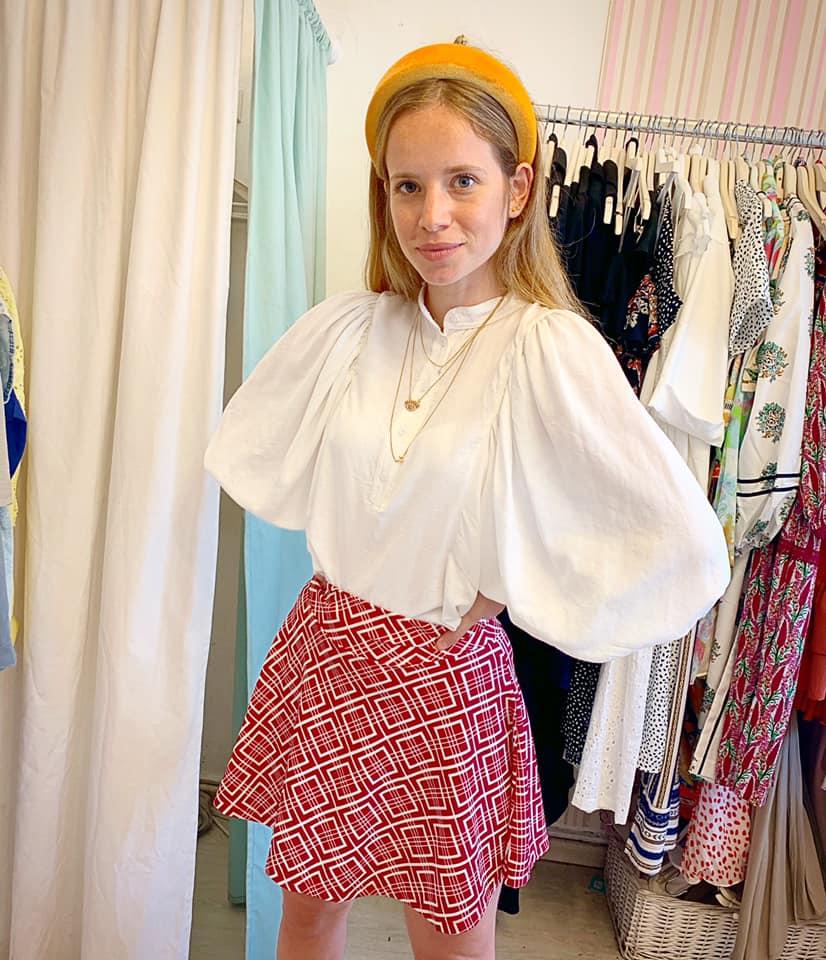 חצאית קלוש  סיס - בורדו