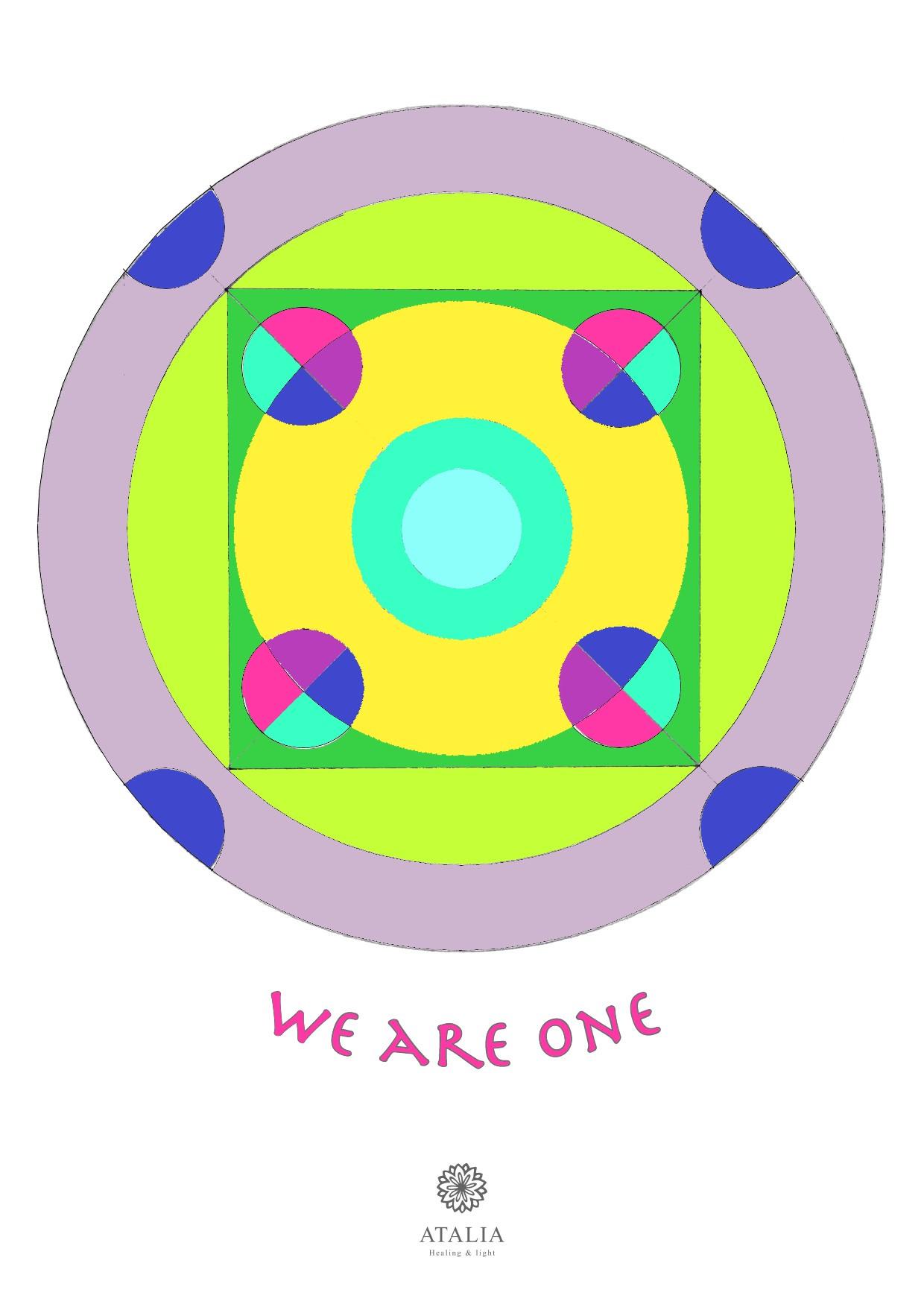 דפי מנדלות לצביעה - WE ARE ONE