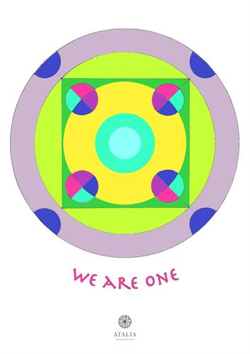 דפי מנדלות לצביעה - WE ARE ONE