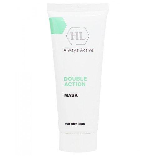 מסכה מכווצת ומרגיעה לעור שמן - Holy Land Double Action Mask