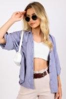 חולצת קרולין כחול/סגול/תכלת