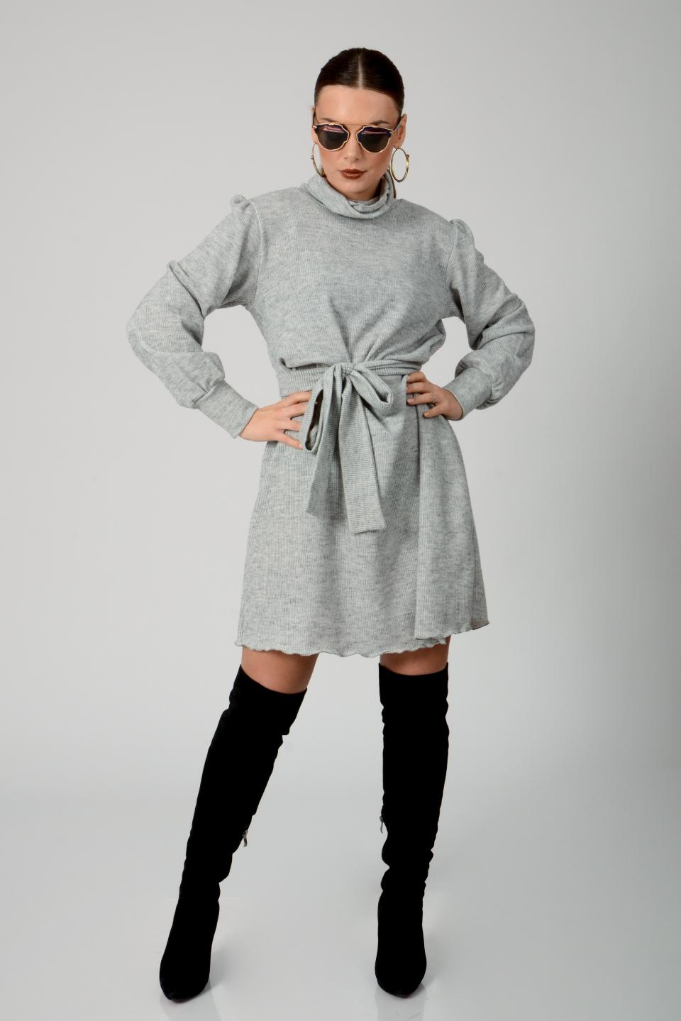 שמלת גולף סלין אפור מלאנז